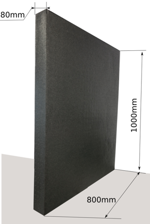 Block EPP 1000x800x80 100g/l black