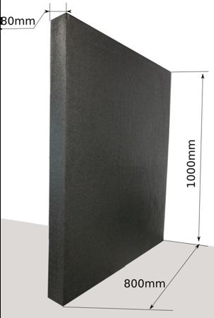 Block EPP 1000x800x80 60g/l black