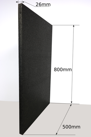 Block EPP 800x500x26 40g/l black