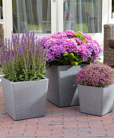 Flower pot IQBANA CONICAL 320 Grey