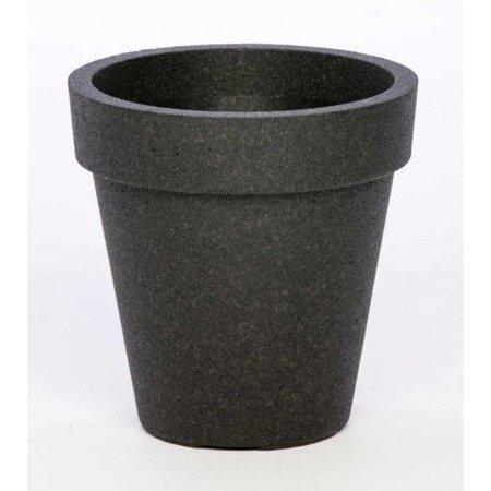 Flower pot IQBANA MILANO black