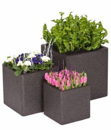 Flower pot IQBANA SQUARE 250 black