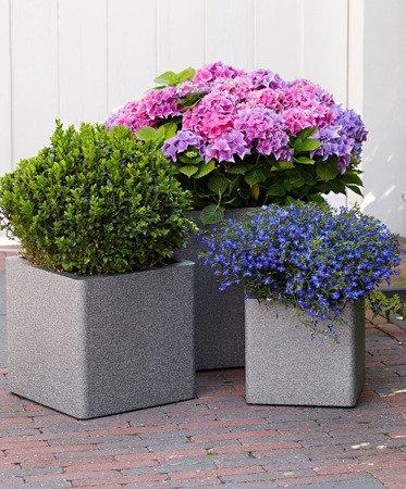 Flower pot IQBANA SQUARE 480 Grey