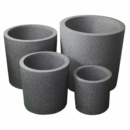 Set of 3 IQBANA ROUND pots - Grey - 390/320/250
