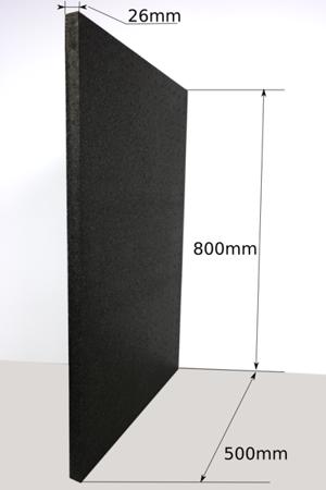Płyta 800x500x26 100g/l czarna